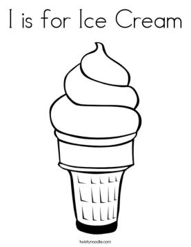I Is for Ice Cream Coloring Pages free trq5