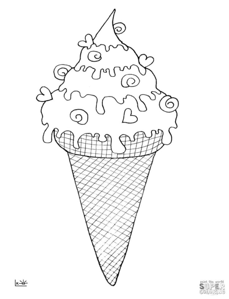 Get This Ice Cream Coloring Pages 332c