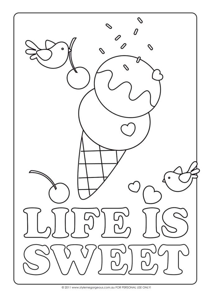 Get This Ice Cream Coloring Pages Free for Kids 628f