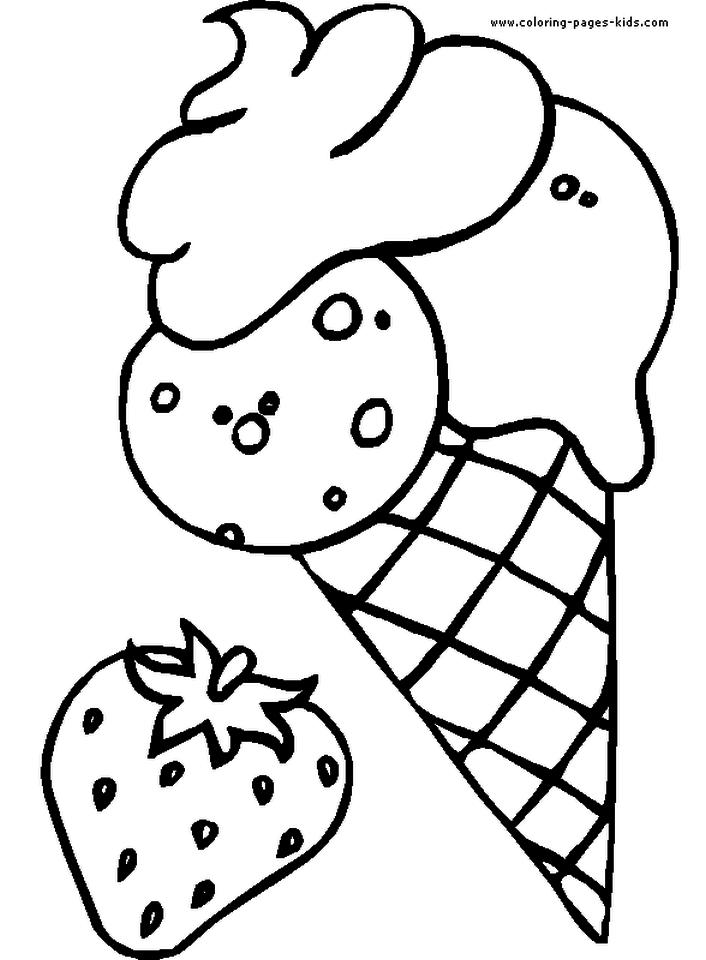 Ice Cream Coloring Pages Free for Kids 873c