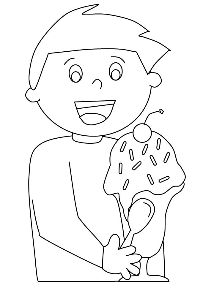 Ice Cream Coloring Pages for Kids 218y