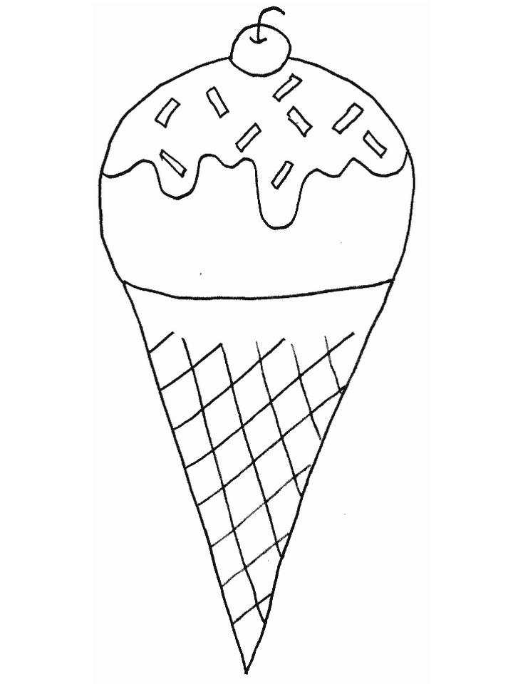 Ice Cream Coloring Pages for Kids 425j
