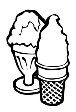 Ice Cream Coloring Pages to Print 093c