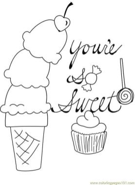 Ice Cream Coloring Pages to Print 356b