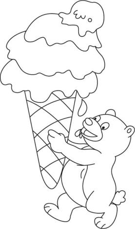 Ice Cream Coloring Pages to Print 686b