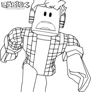 Roblox Coloring Pages Free scr3