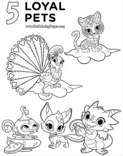 Shimmer and Shine Coloring Pages Online klo1