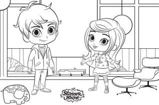 Shimmer and Shine Coloring Pages Online rdz0