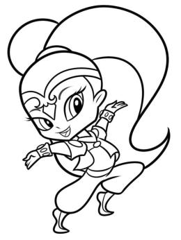 Shimmer and Shine Coloring Pages brt2