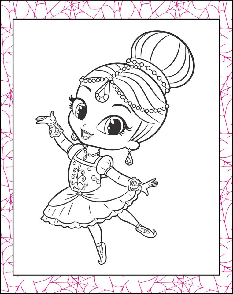 Shimmer and Shine Coloring Pages for Girls nhg3