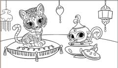 Shimmer and Shine Coloring Pages for Girls ujk3