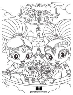 Shimmer and Shine Coloring Pages to Print dsx2