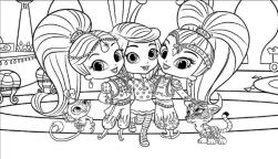 Shimmer and Shine Coloring Pages to Print tgh9