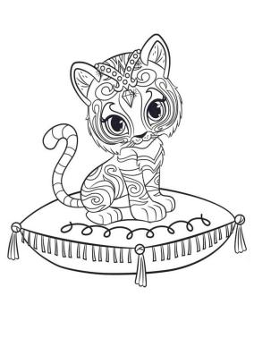 Shimmer and Shine Coloring Pages ya99