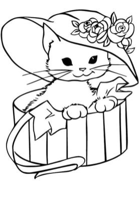 cat coloring pages for children 960hd