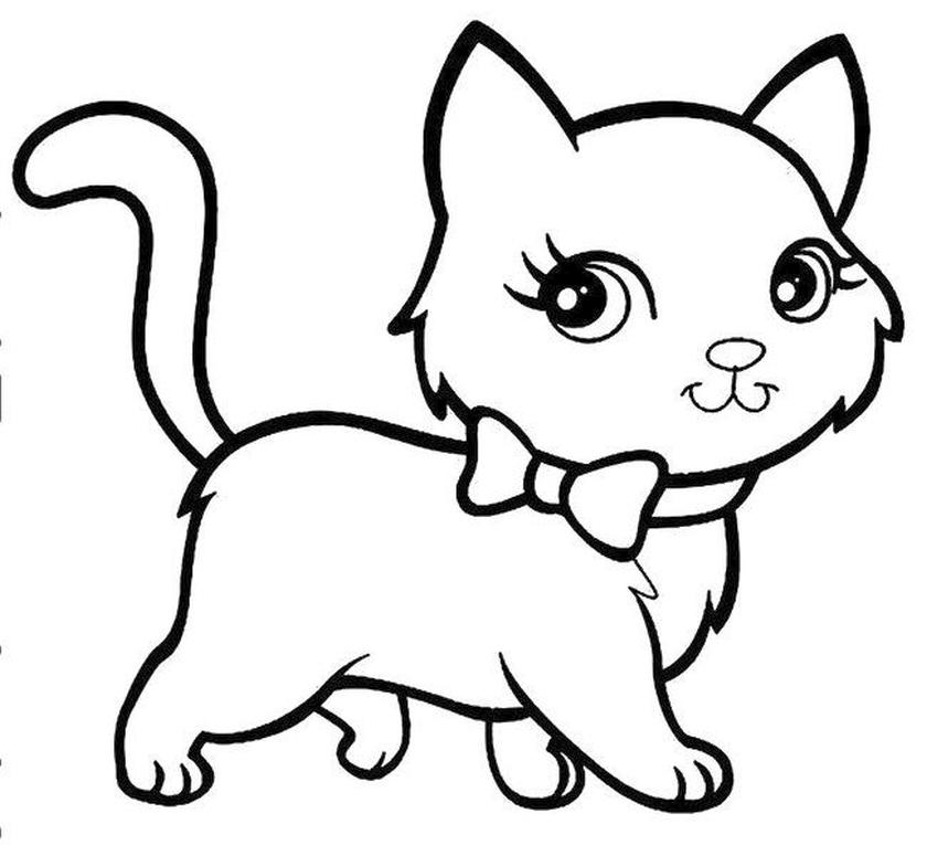 cat coloring pages for kids cvh69