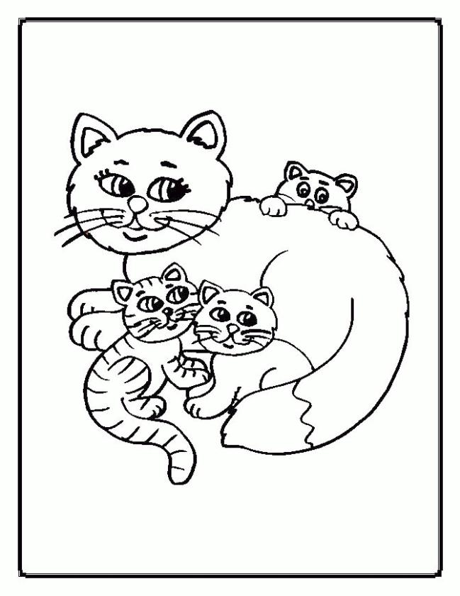 cat coloring pages free for kids ud391