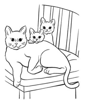cat coloring pages free gy3d7