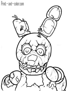 fnaf coloring pages for kids yc74