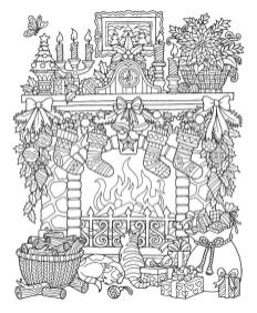 Adult Christmas Coloring Pages Free Winter Night fre6