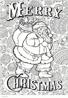 Adult Christmas Coloring Pages to Print Big Santa hay1