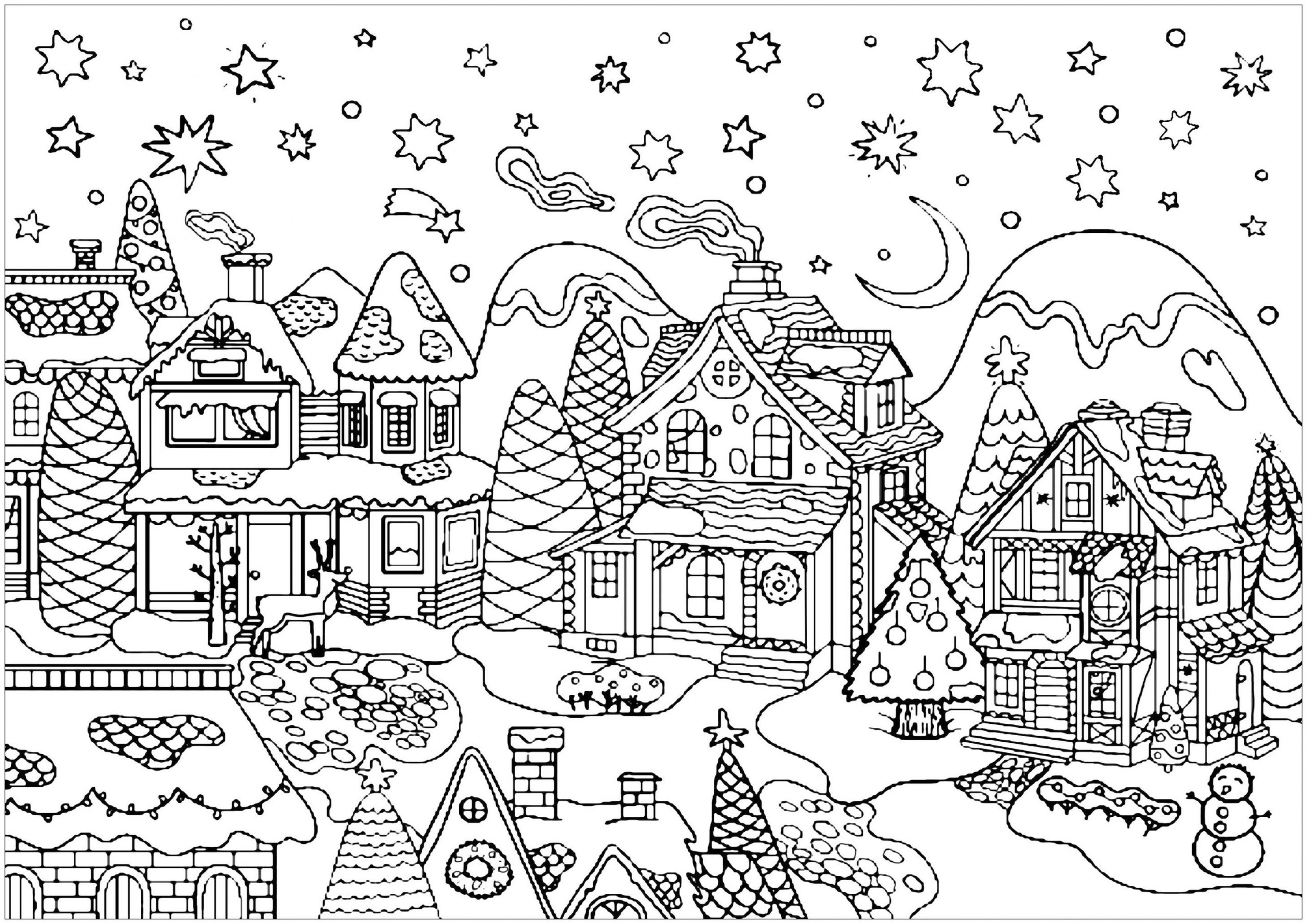 Adult Christmas Coloring Pages vlg1