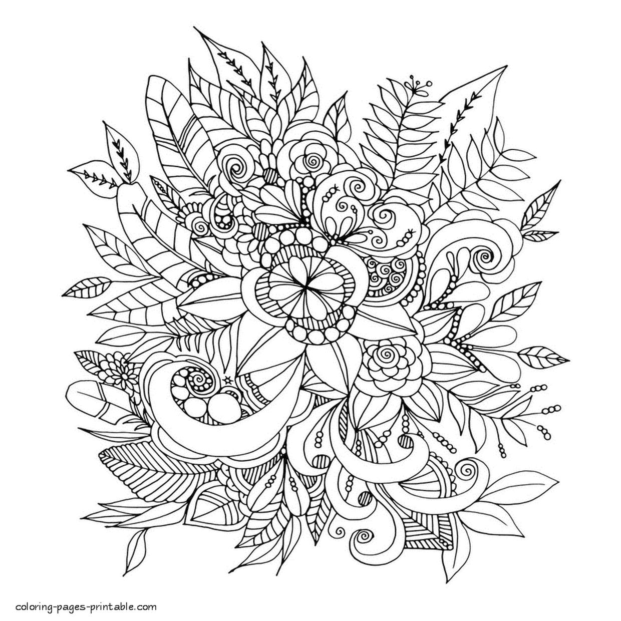 Adult Coloring Pages Floral Patterns Printable hpd0