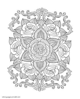 Adult Coloring Pages Floral Patterns Printable ilk6