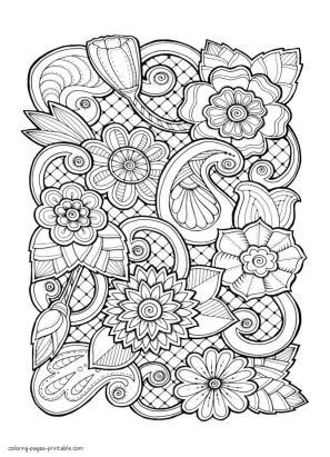 Adult Coloring Pages Floral Patterns Printable kdr8