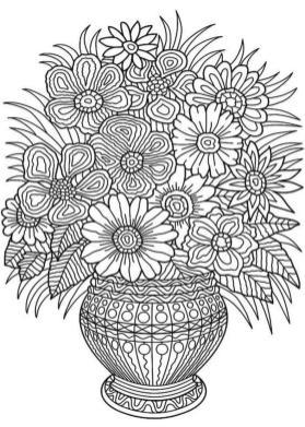 Adult Coloring Pages Patterns Flowers Free Printable 9l4n