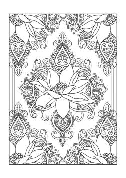 Adult Coloring Pages Patterns Flowers gvc2