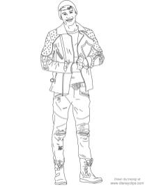 Descendants Coloring Pages Free ben0