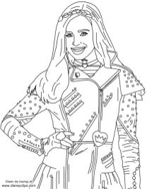 Descendants Coloring Pages Free efi7