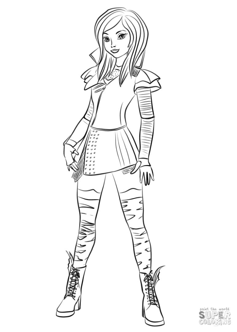 Descendants Coloring Pages for Girls rbl0