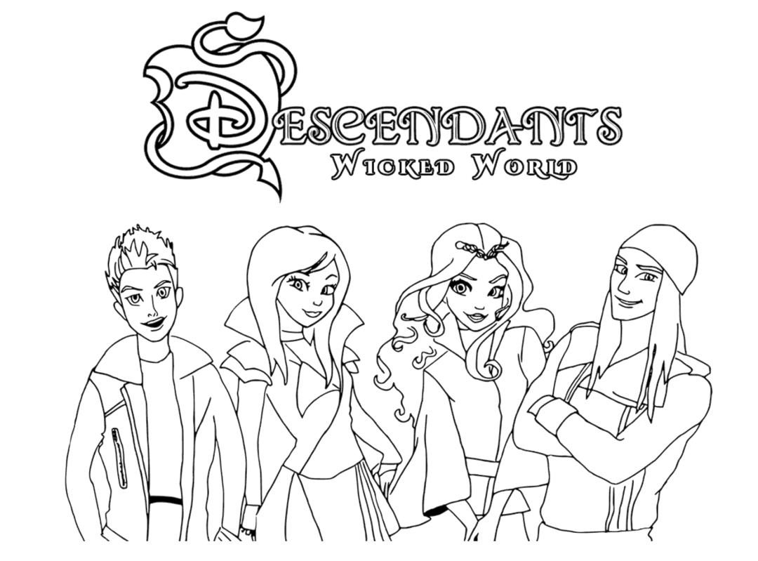 Descendants Coloring Pages grp1
