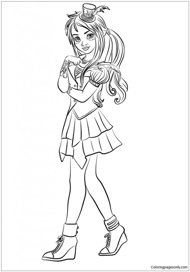 Descendants Coloring Pages to Print frd2
