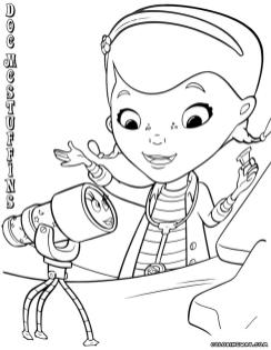 Doc McStuffins Coloring Pages Disney Printable crz9