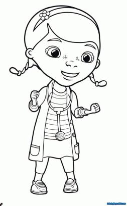 Doc McStuffins Coloring Pages for Girls exc1