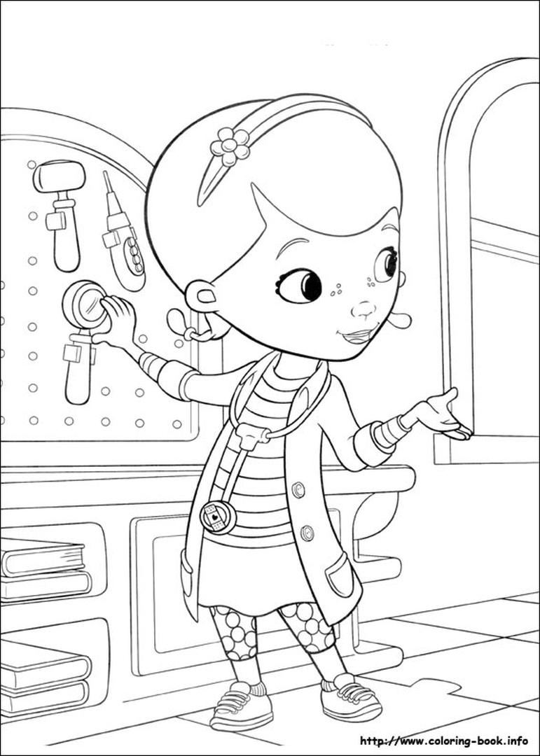 Doc McStuffins Coloring Pages lab4