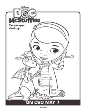 Doc McStuffins Coloring Pages to Print adr0