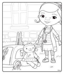 Doc McStuffins Coloring Pages to Print llm2