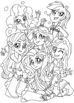 Equestria Girls Coloring Pages Best Friends Forever