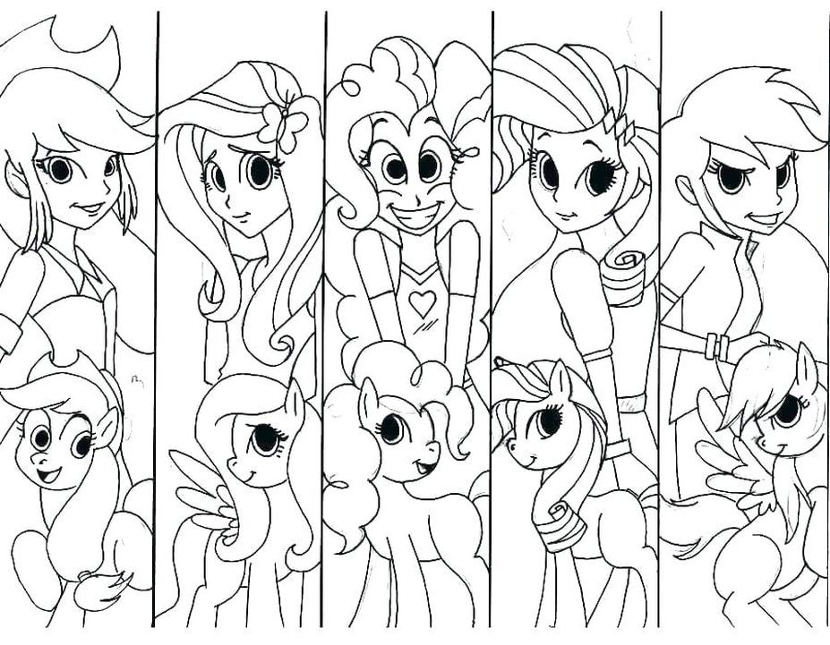 Equestria Girls Coloring Pages My Little Pony Printable