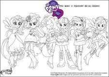 Equestria Girls Coloring Pages My Little Pony