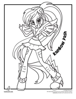 Equestria Girls Coloring Pages Rainbow Dash