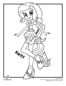 Equestria Girls Coloring Pages Rarity