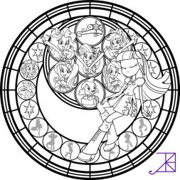 Equestria Girls Coloring Pages Stained Glass