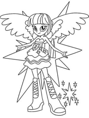 Equestria Girls Coloring Pages Twilight Sparkle Magical