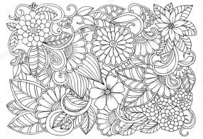 Floral Pattern Coloring Pages for Adult Free jbl3