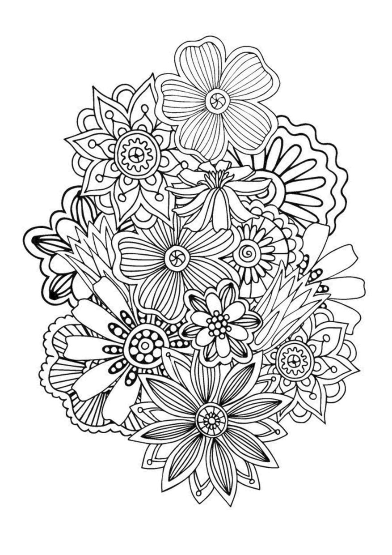 Flower Coloring Pages for Adults Floral Patterns jkl2